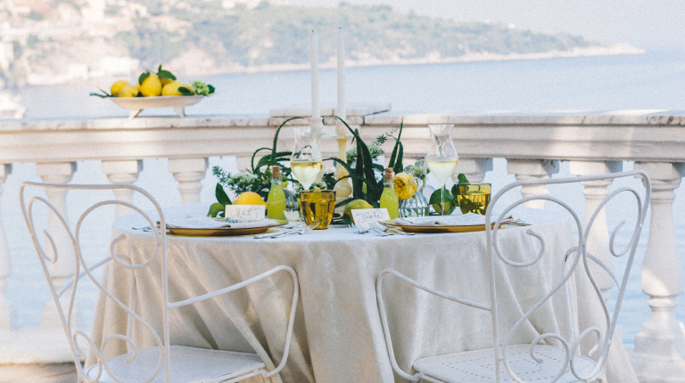 Photo shoot dedicated to weddings at Grand Hotel Cocumella, Sorrento