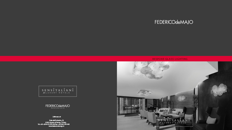 Partnership with SENSITALIANI-LH and new trademark FEDERICOdeMAJO - Bespoke Glass Lighting