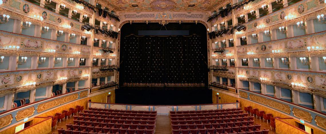 Wine glass created by Zafferano specifically for the Teatro La Fenice presented in September