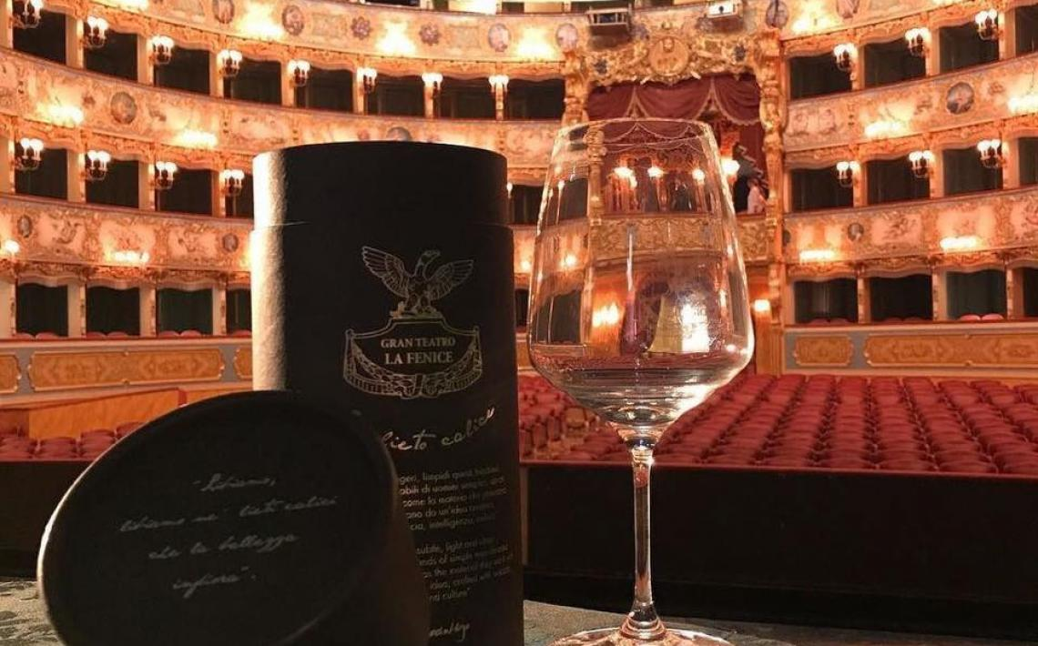 "THE WINE GLASS CREATED BY ZAFFERANO PREMIERED AT THE TEATRO LA FENICE, A TRIBUTE TO ""LA TRAVIATA"" BY GIUSEPPE VERDI"