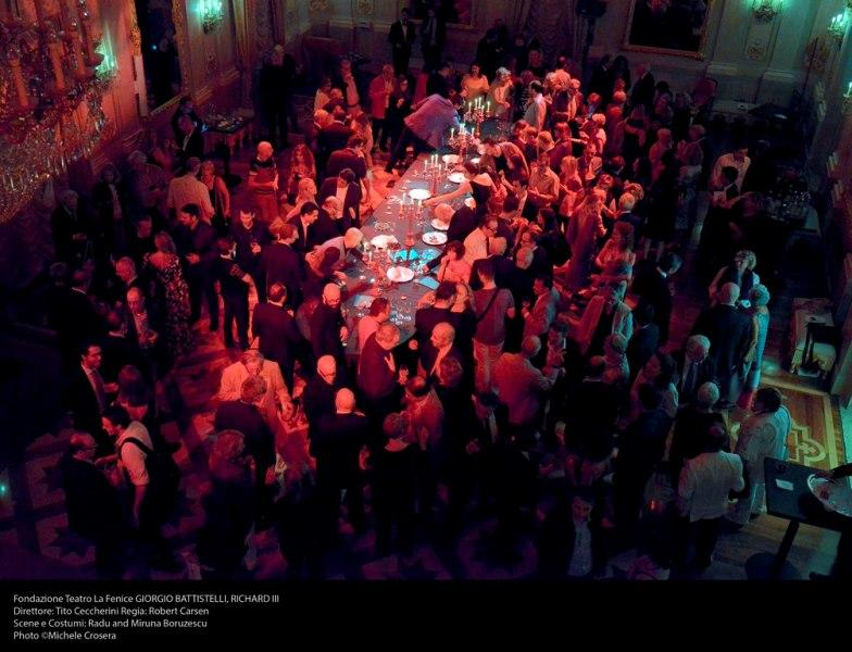 Lamps and tableware by Zafferano at the Sale Apollinee for the Italian premiere of Richard III, Teatro La Fenice