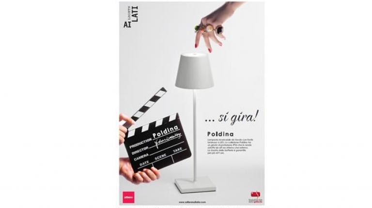 The Fondazione Ente dello Spettacolo space at the Venice International Film Festival lit up by AiLati lamps