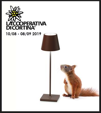 The temporary shop at La Cooperativa di Cortina opens from 10 August - 8 September