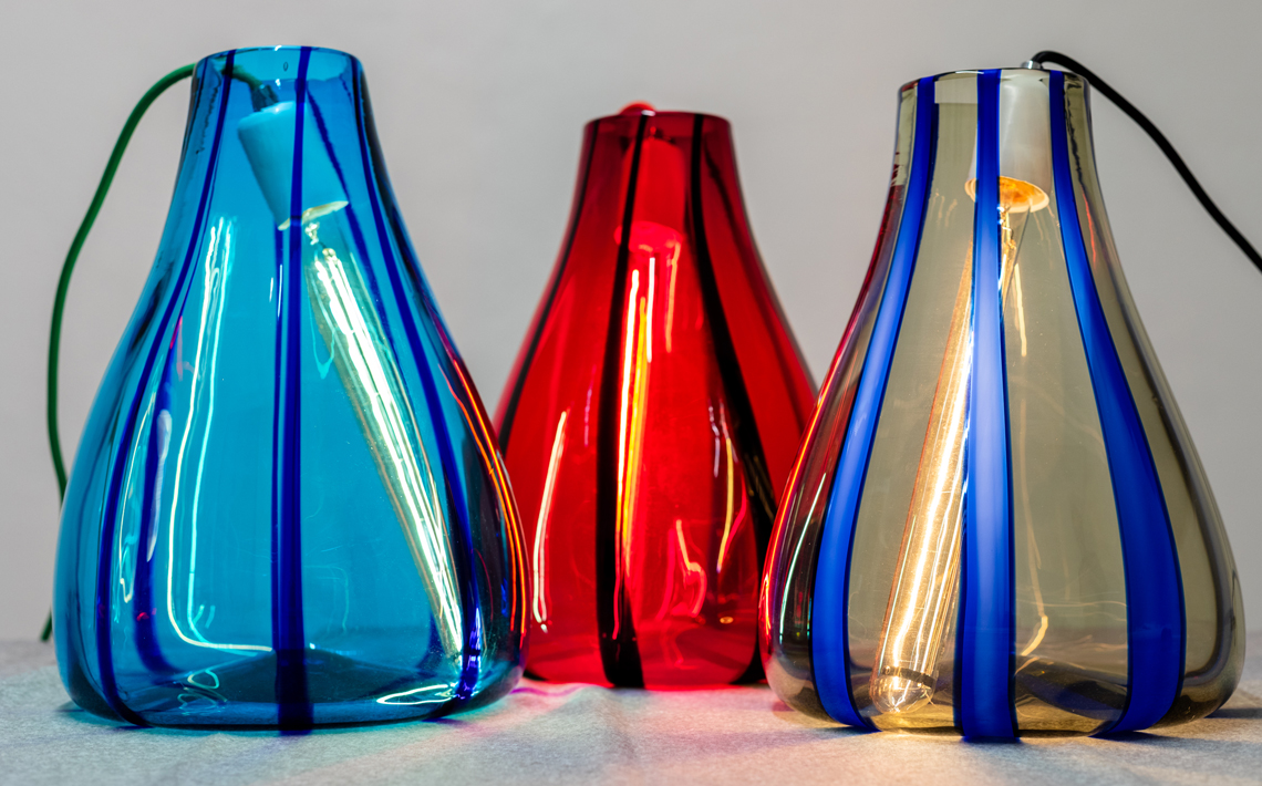 "The collection of ""Luce Liquida"" luminous vases by Zafferano selected by the ADI Design Index 2019"