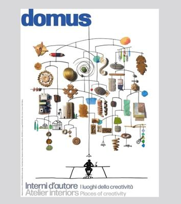 "Our advertising can be found in the special issue of Domus ""Interni d'autore – I luoghi della creatività"""