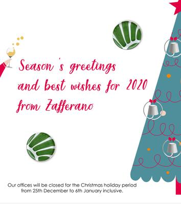 Christmas holiday period closing